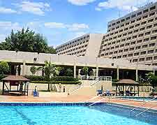 Image showing the outdoor swimming pool at the Sheraton Abuja Hotel