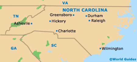 North Carolina NC State Map