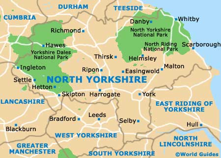 North Yorkshire map