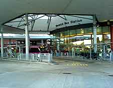 Photo of the city's bus station on Surrey Street