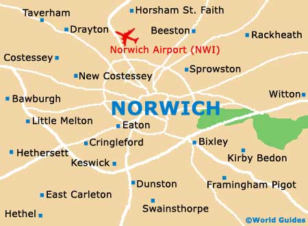 Map Of England Norfolk.Norwich Maps And Orientation Norwich Norfolk England