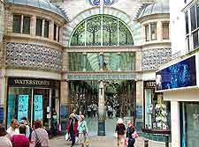 Picture of shoppers at the city's Royal Arcade