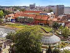 Bird's eye view of the Castle Mall