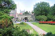 Picture of gardens at Nottingham castle