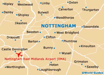 Small Nottingham Map