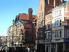 Picture of cafes and shops in the city centre