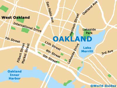 Small Oakland Map