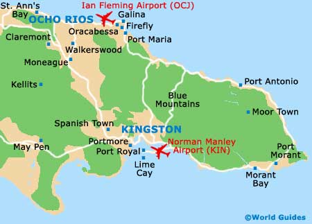 Small Ocho Rios Map