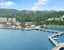 Aerial view of the main pier at Ocho Rios