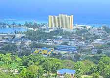 Coastal view, showing resort accommodation
