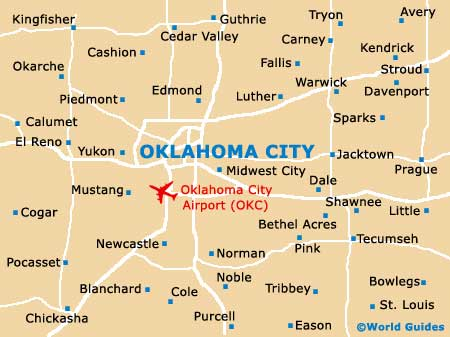 Oklahoma City Maps And Orientation Oklahoma City USA - Oklahoma map us