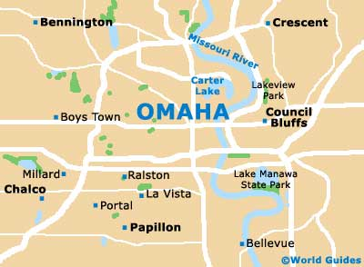 Omaha Maps And Orientation Omaha Nebraska NE USA - Map of nebraska towns
