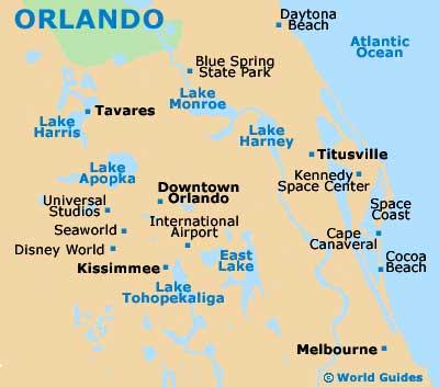 Small Orlando Map