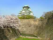 View of the historic Osaka Castle Park