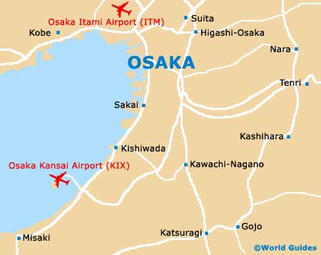 Map Of Osaka Kansai Airport Kix Orientation And Maps For Kix