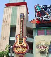 Image of the Namba district and Hard Rock Cafe