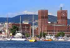 Image showing the Oslo waterfront and its iconic Town Hall, Oslo, Norway