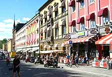 View of Karl Johans Gate shopping district