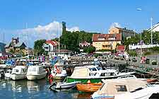 View of Drobak harbour