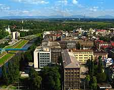 Aerial cityscape picture