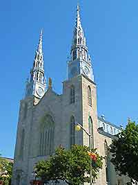 Picture showing the Notre Dame Basilica