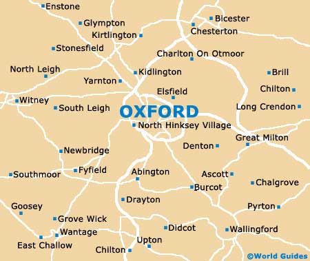 Oxford Maps And Orientation Oxfordshire England