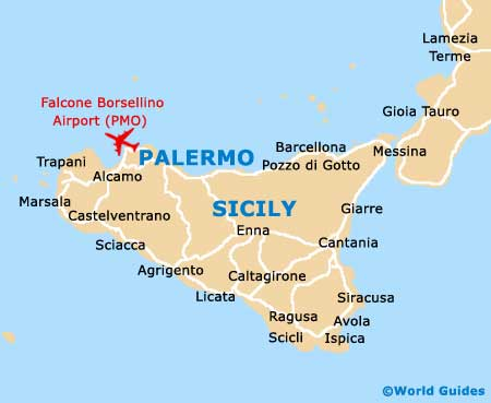 Sicily On Map Of Italy.Map Of Catania Vincenzo Bellini Airport Cta Orientation And Maps