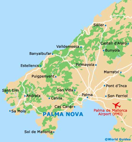 Map Of Palma De Mallorca Airport Pmi Orientation And Maps For Pmi