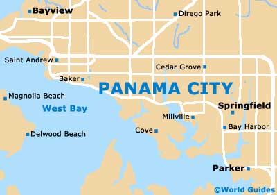 Small Panama City Map