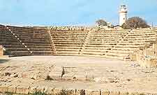 Photograph of Paphos ancient amphitheatre remains