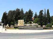 Photograph of road passing by the Makarios Monument