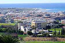 Picture of the townscape and distant coastline