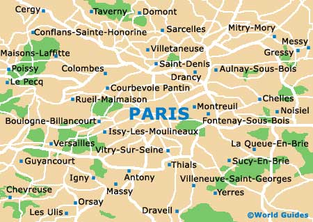Tourist Map of Paris City Area