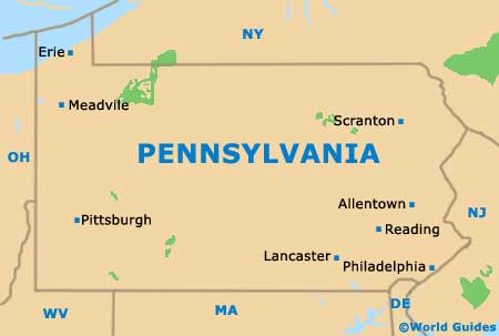Pennsylvania PA State Map