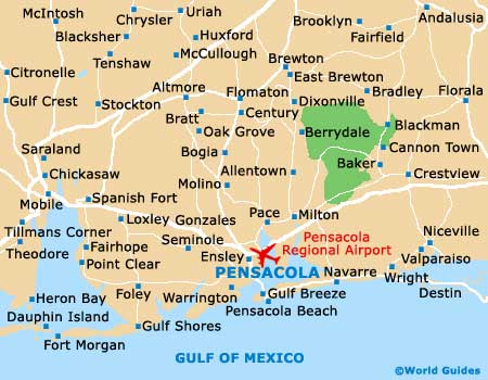 Map of Pensacola Airport PNS Orientation and Maps for PNS