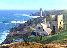 Levant Mine in St. Just, near Penzance, a National Trust attraction