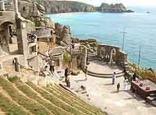 View showing the stage at the Minack Theatre