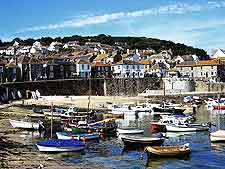 Mousehole Harbour, a historic attraction nearby Penzance