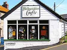 Craft shop in Mousehole near Penzance