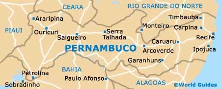 Pernambuco map