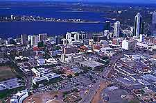 Aerial view over Perth
