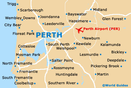 Perth maps and orientation perth western australia wa australia perth map gumiabroncs Image collections
