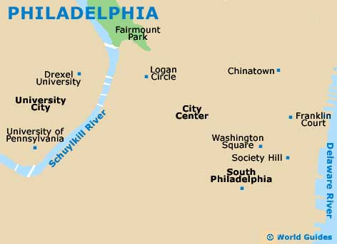 Small Philadelphia Map