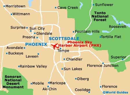 Phoenix Maps Maps Of Phoenix Arizona AZ USA - City map of arizona