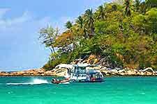 Photo of cruise and coastline