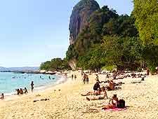 Photo of sunbathers on Phra Nang Beach