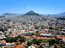 Aerial picture of Athens city