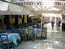 Image showing open-air Athens cafe