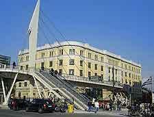 Image of modern metro train station