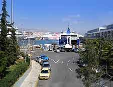 Photo of road leading to and from the Piraeus harbourfront